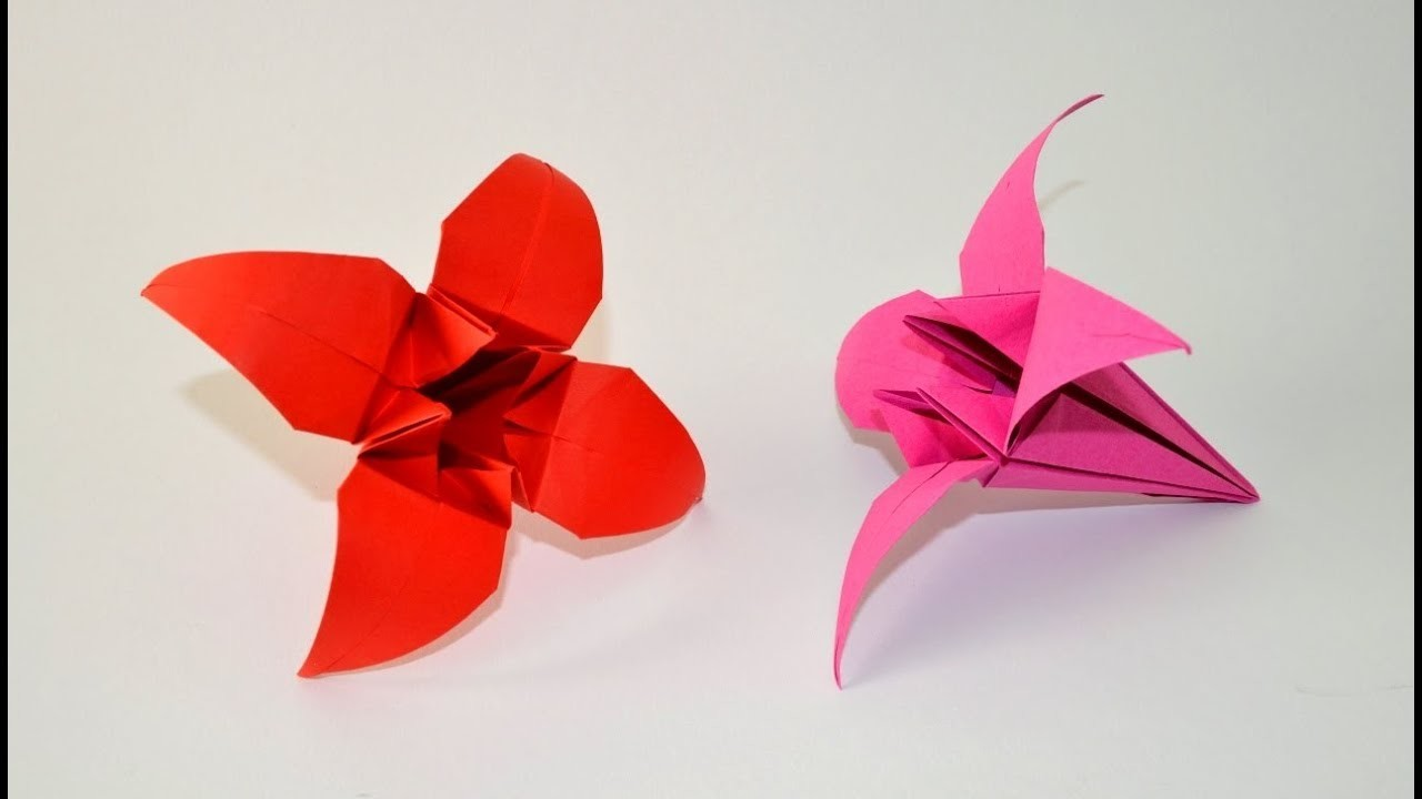 Como hacer un lirio de papel (flor de origami)