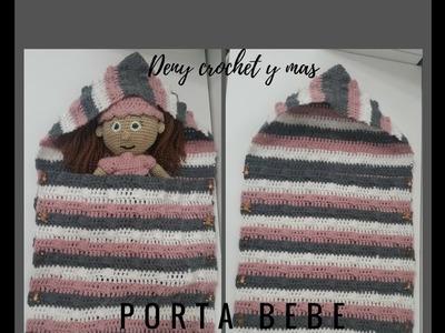 Como hacer un portabebe tejido en crochet