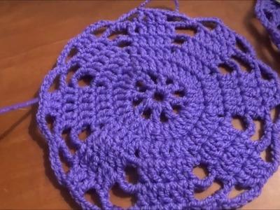 Como hacer una carpeta o mantelito redondo, en crochet muy fácil