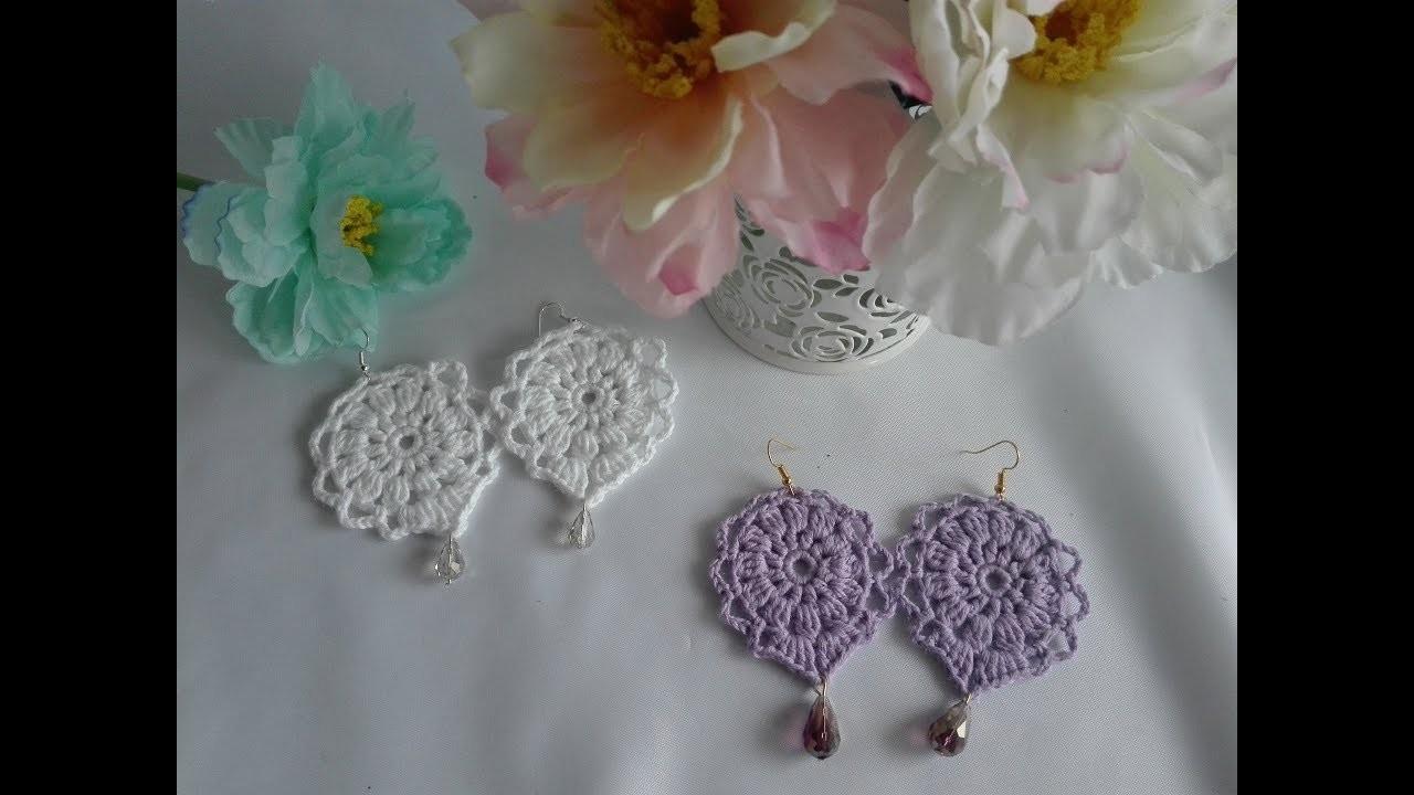 Como tejer pendientes a crochet  + Resultado del sorteo