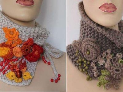 Cuellos. Tejidos en Crochet