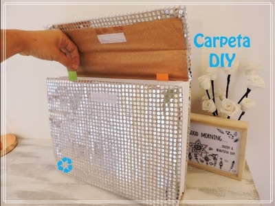 DIY Carpeta.Archivador Reciclada de Cartón. ♻️ Crafts