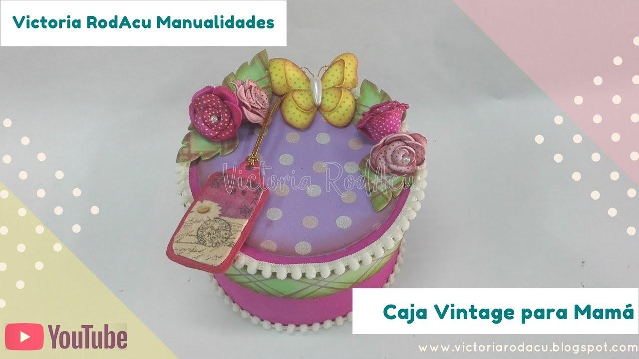 DIY Cofre Vintage en Foamy Victoria RodAcu