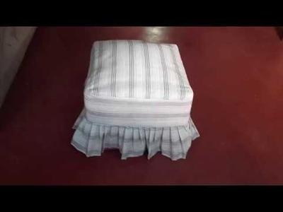 DIY Cómo Forrar un Puf  (facil y sencillo) | Manualidades en casa