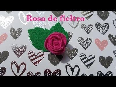 #DIY como hacer #rosa de #fieltro