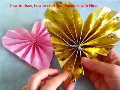 DIY. Como hacer un corazon de papel. Manualidades con niños para Regalar el Día de las Madres