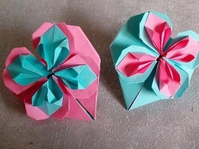 DIY. Como hacer un corazon de papel. Manualidades para Regalar el Día de las Madres