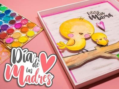 DIY: Cuadro de ACUARELAS 3D para MAMÁ - DÍA DE LAS MADRES