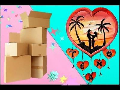 DIY- manualidades corazon de carton- dia de los enamorados (reciclaje) san valentin