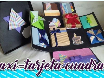 DIY | Maxi-tarjeta cuadrada | Versión cumpleañera | ???? ???? ????