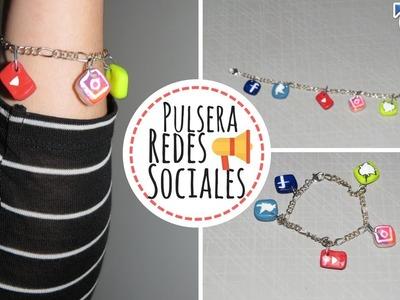 DIY: Pulsera de Redes Sociales | Porcelana Fría | Facebook, Instagram, Twitter, YouTube, Snapchat
