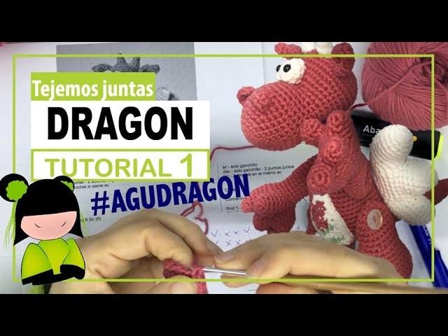 Dragon amigurumi paso a paso | TEJEMOS JUNTAS? | Parte  1