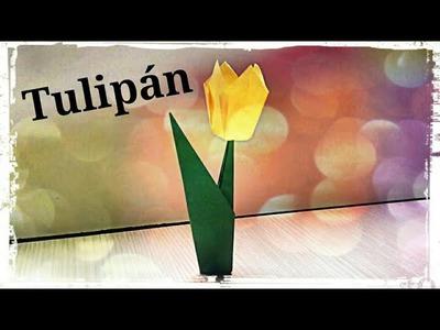 Flor de Papel (Tulipán) - Origami