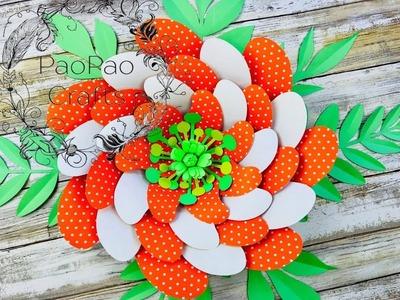 Flor gigante de papel | Moldes GRATIS | Flores de papel | Giant paper flower | Free templates