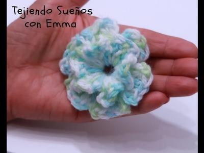 Flor Tridimencional  en Crochet paso a paso.