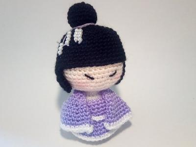 Geisha Amigurumi - Kokeshi Amigurumi Crochet  Uncinetto Tutorial