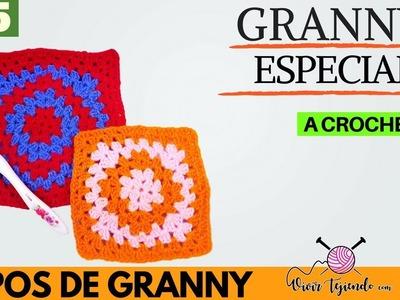 Granny Especial a Crochet | Tipos de Granny - Granny 5 | Curso de tejidos