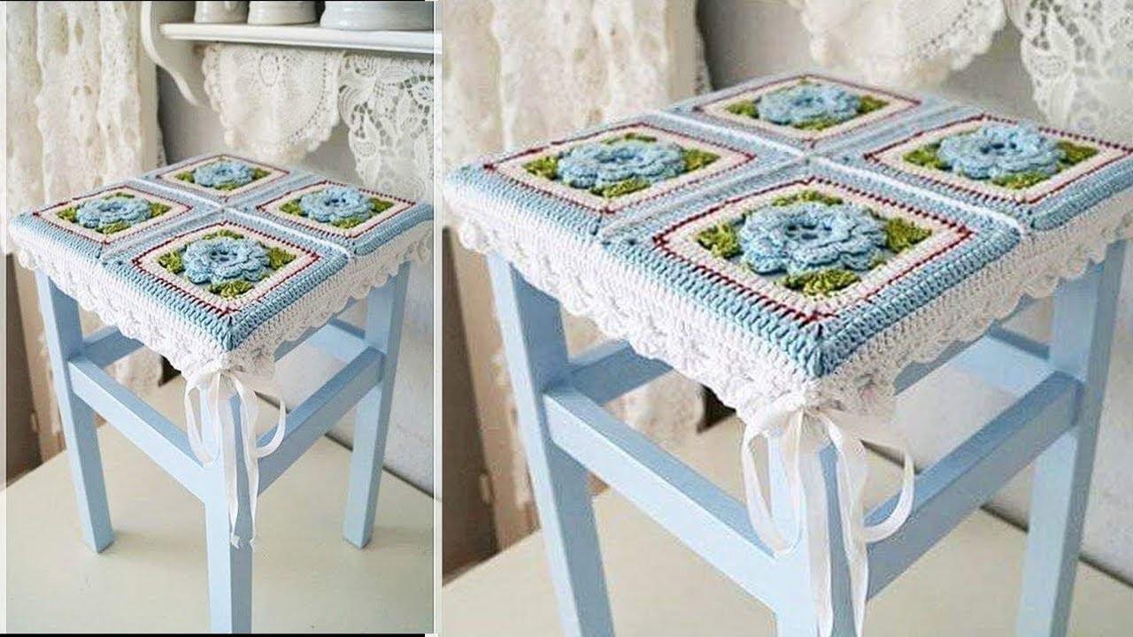 Hermosas Fundas Para Sillas Tejidos En Crochet
