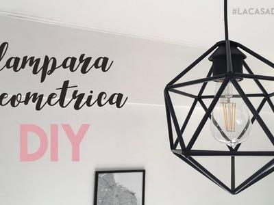 LAMPARA GEOMETRICA CON PITILLOS. LAMPARA NORDICA DIY