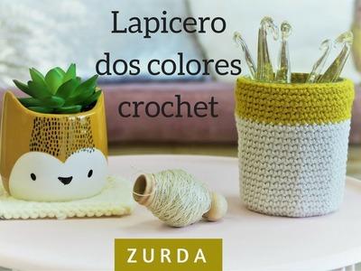 LAPICERO CROCHET DOS COLORES | ZURDA | CHIC DIY