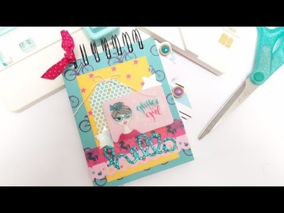 Libreta desde cero Scrapbook Tutorial DIY Glitter Girl