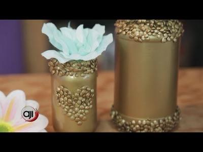 Manualidades: Frascos decorativos con lentejas