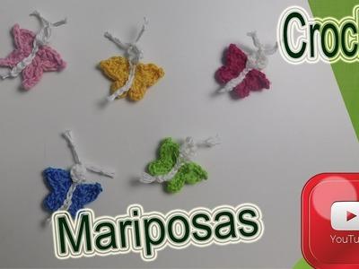 Mariposa tejida a crochet.