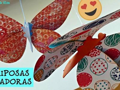 Mariposas Voladoras, Mariposas de Papel Scrapbooking, Decora tu Habitación con Mariposas preciosas