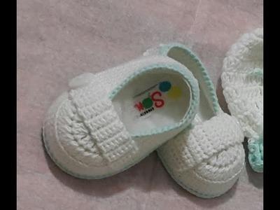 Mocasines tejidos a crochet para bebé. Explicación