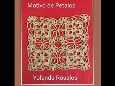 MOTIVO A CROCHET DE PETALOS PARA TEJER MANTEL ,, CENTRO DE MESA CHALECOS  BLUSAS