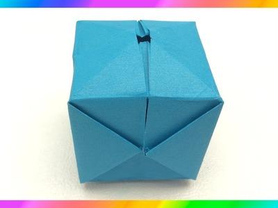 Origami ★Cubo inflable★ Figuras de Papel★ Manualidades de papel★ Paper Figures ★ Paper Crafts