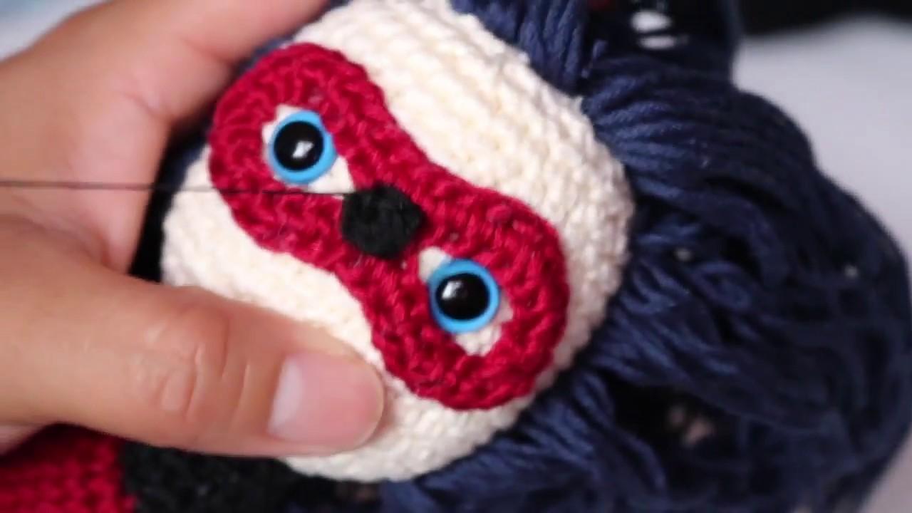 PARTE 5: Como tejer el antifaz de Ladybug.