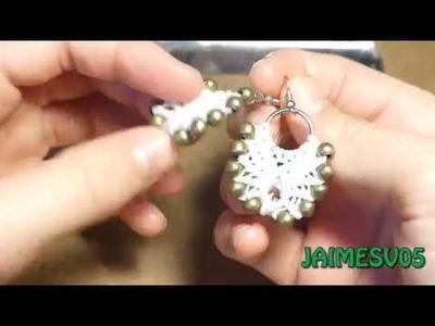 Pendientes ángel | macramé | DIY | Angel earings | JAIMESV05 |