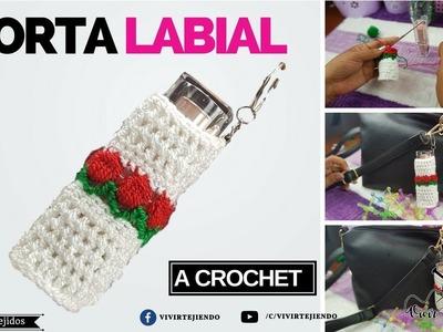 Porta Labial a crochet - Curso de tejidos para maquillajes - Vivirtejiendo