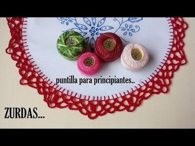 Puntilla a crochet ZURDAS
