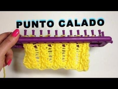 PUNTO CALADO TELAR RECTANGULAR. POINT LACE LOOM KNITTING TUTORIAL