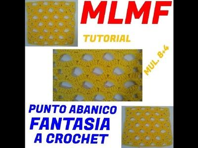 PUNTO FANTASIA ABANICOS A CROCHET - Manualidades La Manita Felíz