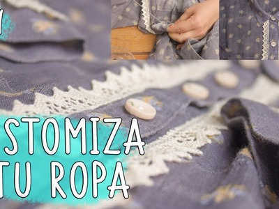 Renueva, customiza o transforma una BLUSA con  estilo * customize blouse diy