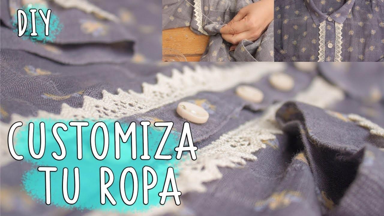 Renueva, customiza o transforma una BLUSA con  estilo * customize blouse diy