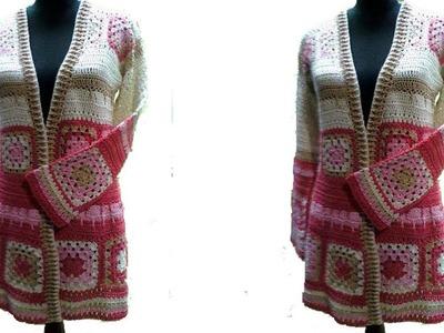 Suéter Largo en Crochet