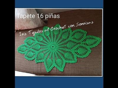 TAPETE  16 PINAS A CROCHET 2DA PARTE
