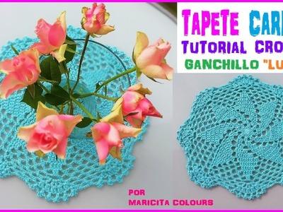 "Tapete Carpeta a Crochet Fácil  ""Lucha"" por Maricita Colours"