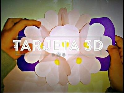 Tarjeta Pop Up de flores_ DIY ????