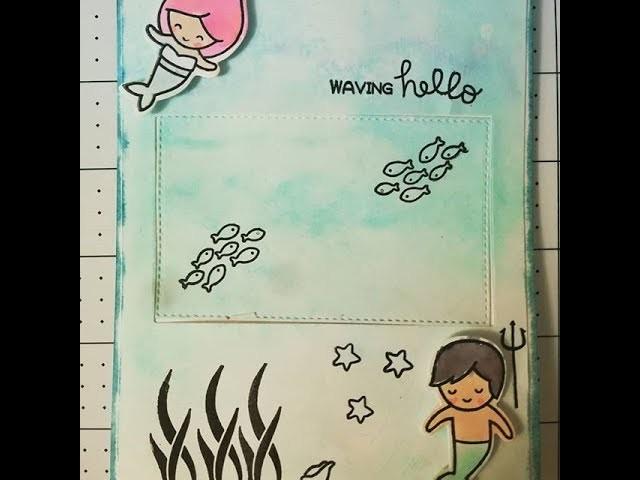 Tarjeta scrapbooking usando Técnicas de color con Zig Kuretake