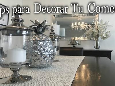 TIPS PARA DECORAR EL COMEDOR.IDEAS DE DECORACION.DIY