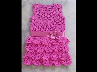 Top 10 crochet vestidos de bebé tejidos a mano con ganchillo