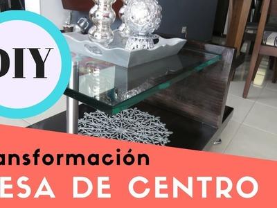 TRANSFORMACIÓN MESA DE CENTRO - CAFÉ. DIY. LUPITA PEÑA