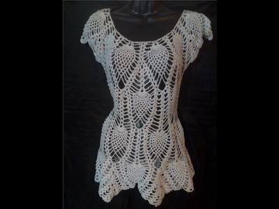Tutorial Blusa Piñas 1ra Parte Crocheteando con la Comadre