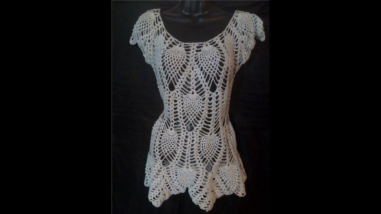 Tutorial Blusa Piñas 2da Parte Crocheteando con la Comadre