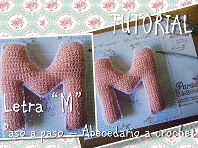 Tutorial Crochet ganchillo letra M - paso a paso abecedario